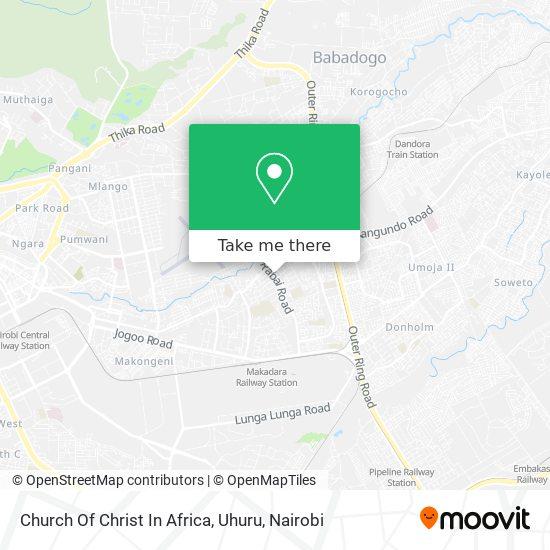 Church Of Christ In Africa, Uhuru map