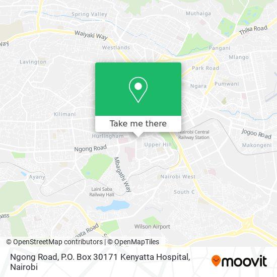Ngong Road, P.O. Box 30171 Kenyatta Hospital map