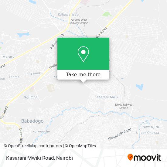 Kasarani Mwiki Road map