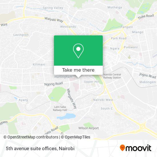 5th avenue suite offices map