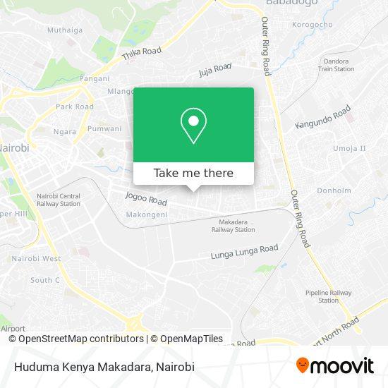 Huduma Kenya Makadara map
