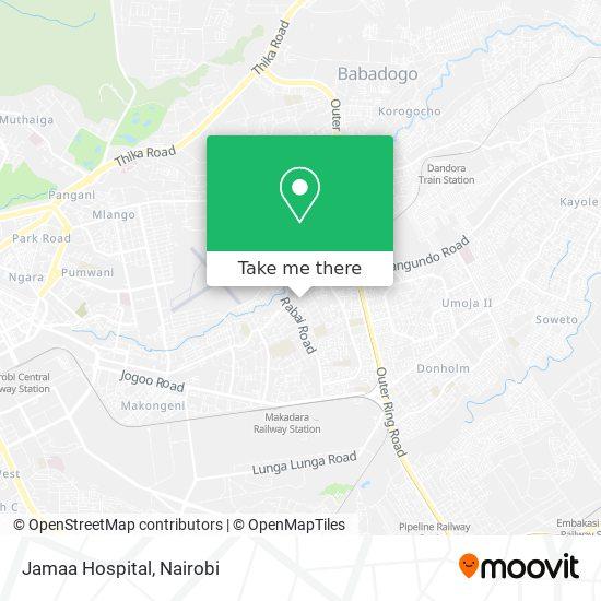 Jamaa Hospital map