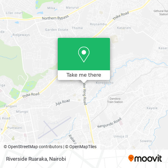 Riverside Ruaraka map