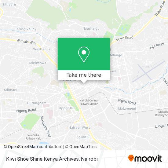Kiwi Shoe Shine Kenya Archives map