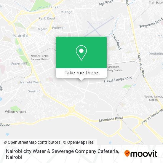 Nairobi city Water & Sewerage Company Cafeteria map