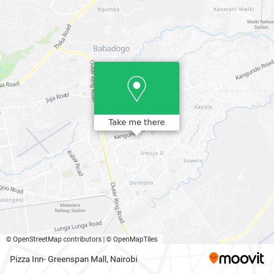 Pizza Inn- Greenspan Mall map