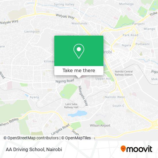 AA Driving School map