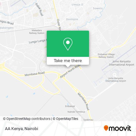AA Kenya map