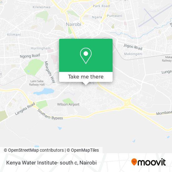 Kenya Water Institute- south c map