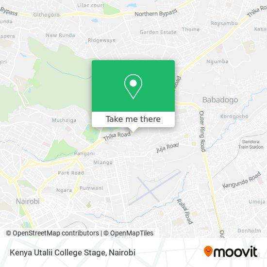 Kenya Utalii College Stage map