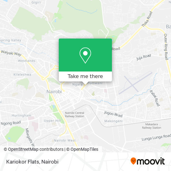 Kariokor Flats map