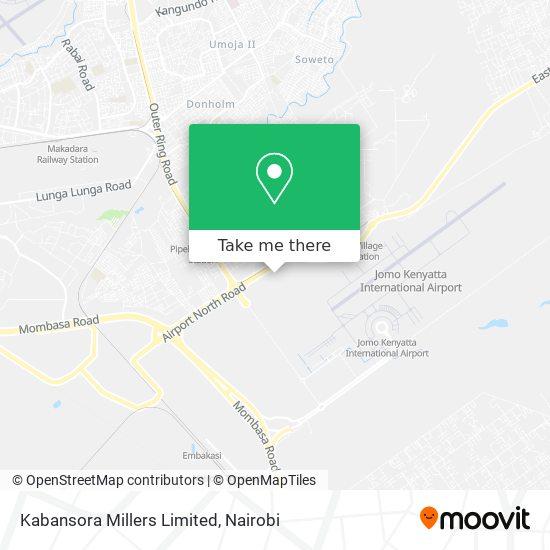 Kabansora Millers Limited map