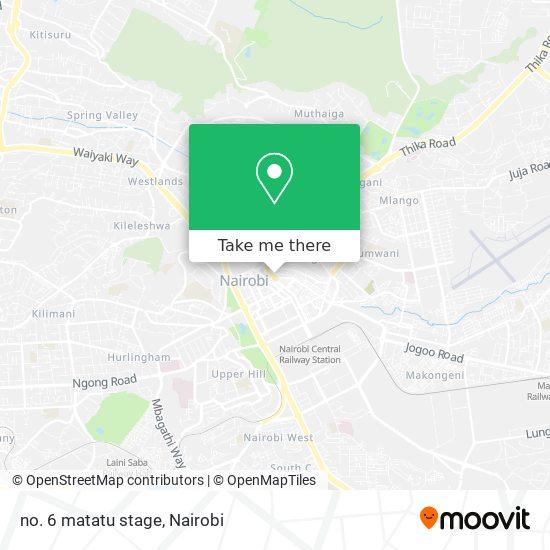 no. 6 matatu stage map