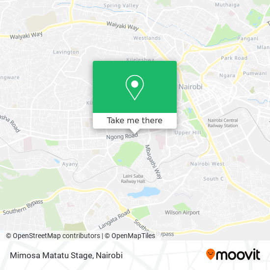 Mimosa Matatu Stage map