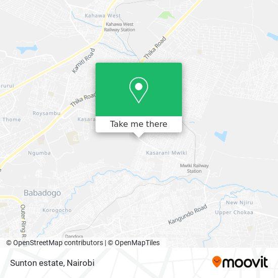 Sunton estate map
