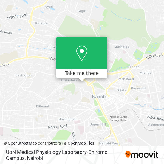 UoN Medical Physiology Laboratory-Chiromo Campus map
