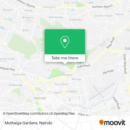 Muthaiga Gardens map