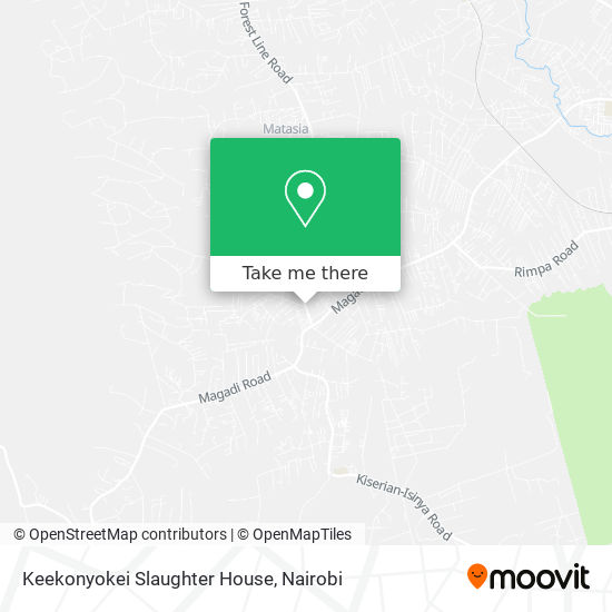 Keekonyokei Slaughter House map