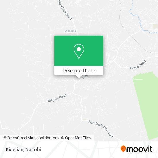 Kiserian map