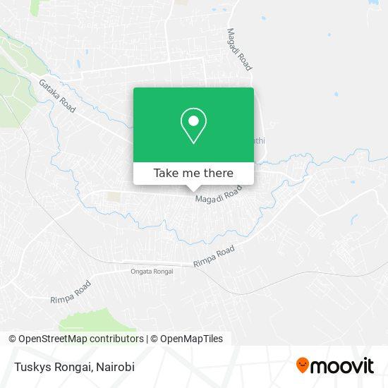 Tuskys Rongai map