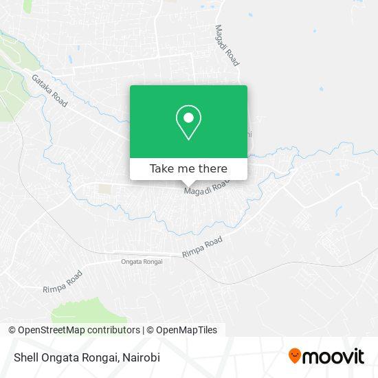 Shell Ongata Rongai map