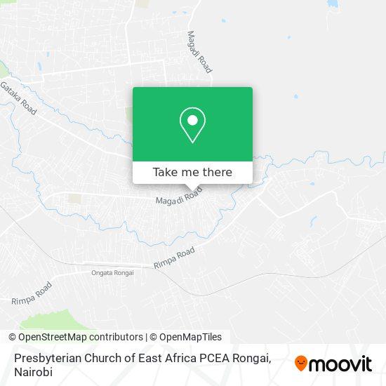 Presbyterian Church of East Africa PCEA Rongai map