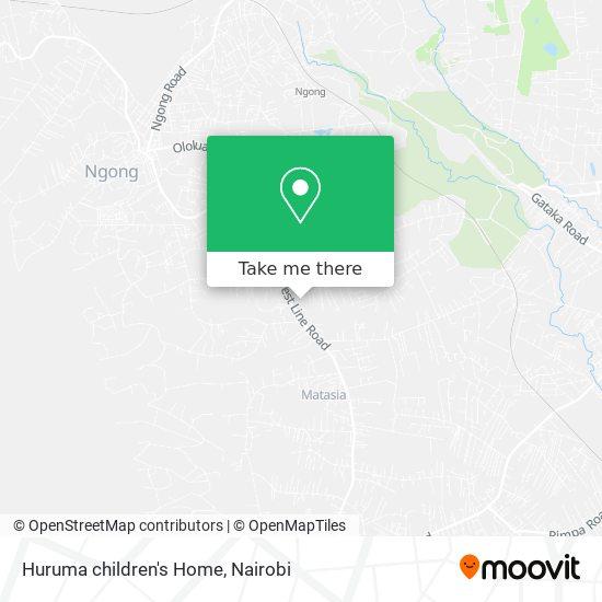 Huruma children's Home map