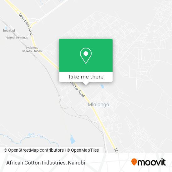 African Cotton Industries map