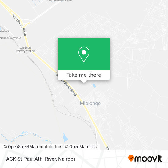 ACK St Paul,Athi River map