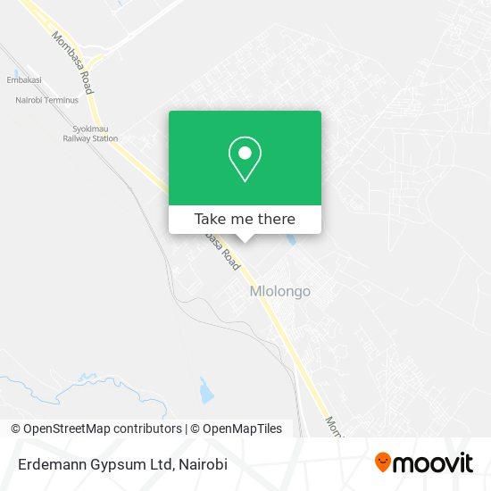 Erdemann Gypsum Ltd map