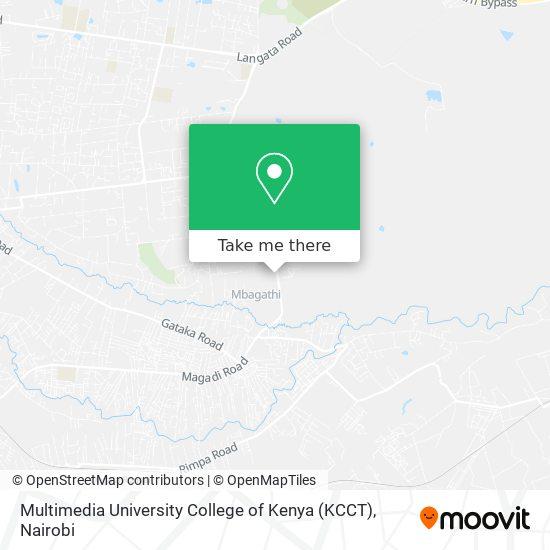 Multimedia University College of Kenya (KCCT) map