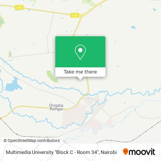 "Multimedia University ""Block C - Room 34"" map"