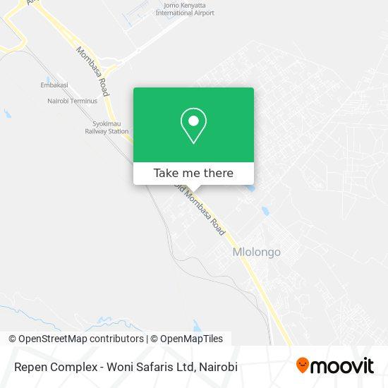 Repen Complex - Woni Safaris Ltd map