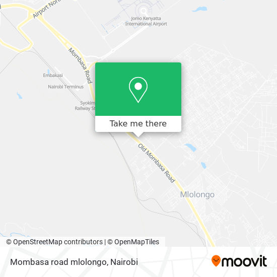 Mombasa road mlolongo map