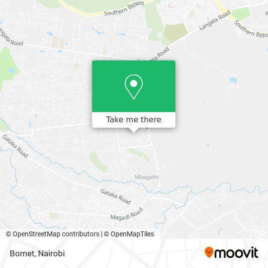 Bomet map