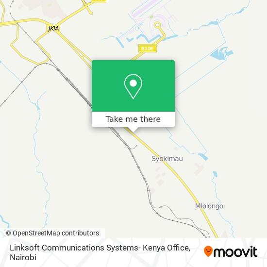 Linksoft Communications Systems- Kenya Office map