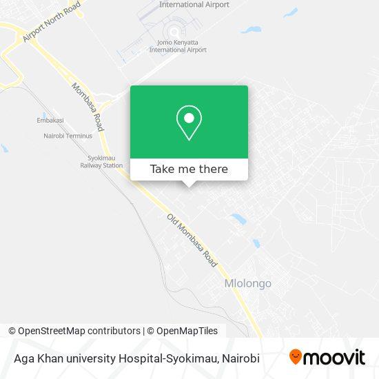 Aga Khan university Hospital-Syokimau map