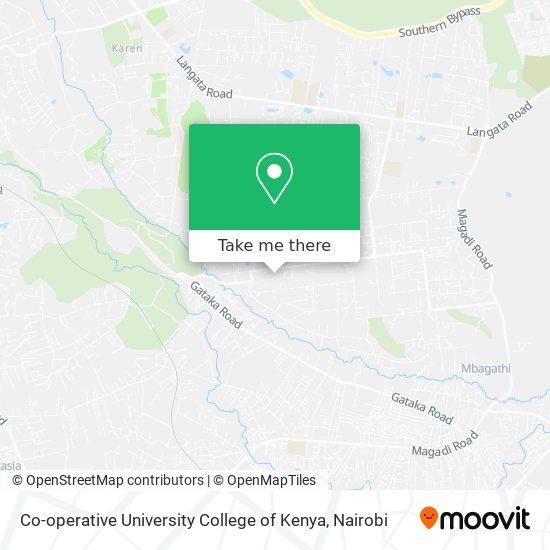 Co-operative University College of Kenya map