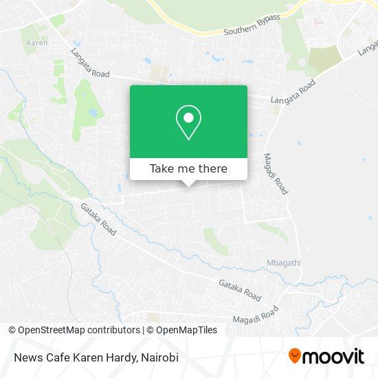 News Cafe Karen Hardy map