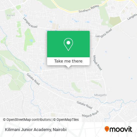 Kilimani Junior Academy map