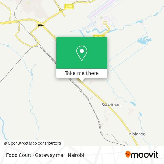 Food Court - Gateway mall map