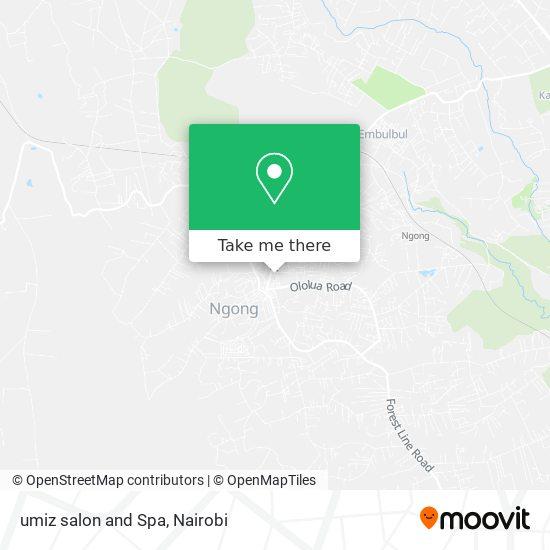 umiz salon and Spa map