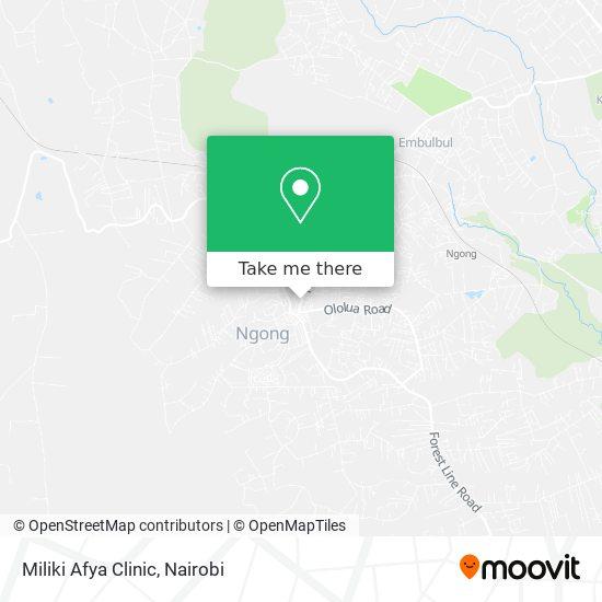 Miliki Afya  Clinic map