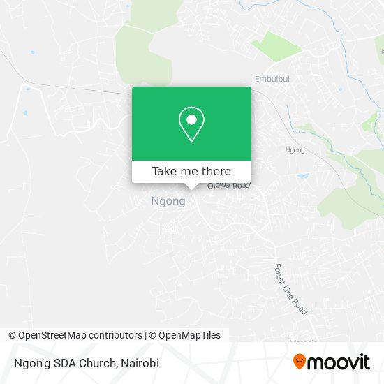 Ngon'g SDA Church map