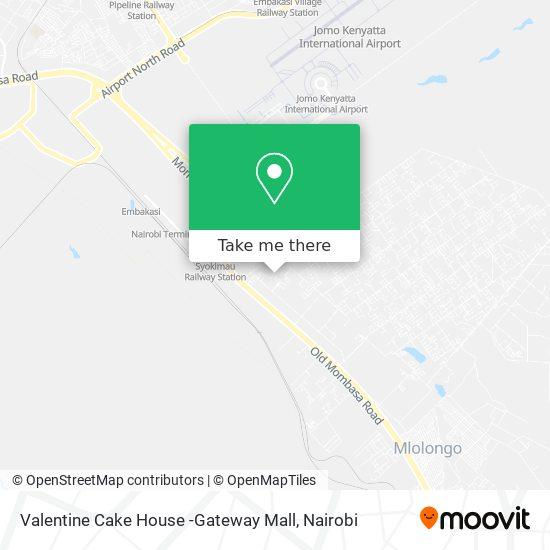 Valentine Cake House -Gateway Mall map