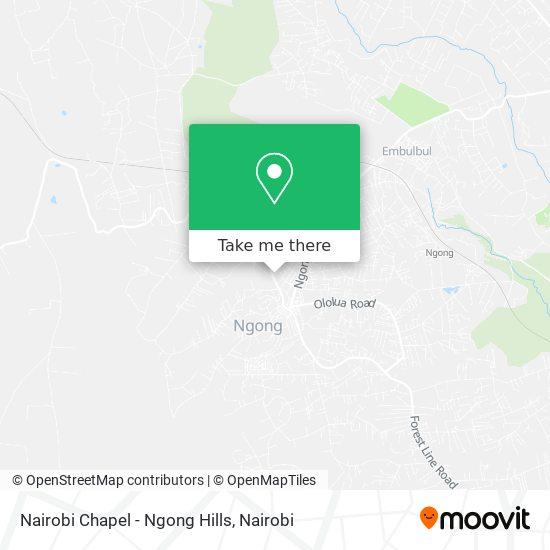 Nairobi Chapel - Ngong Hills map