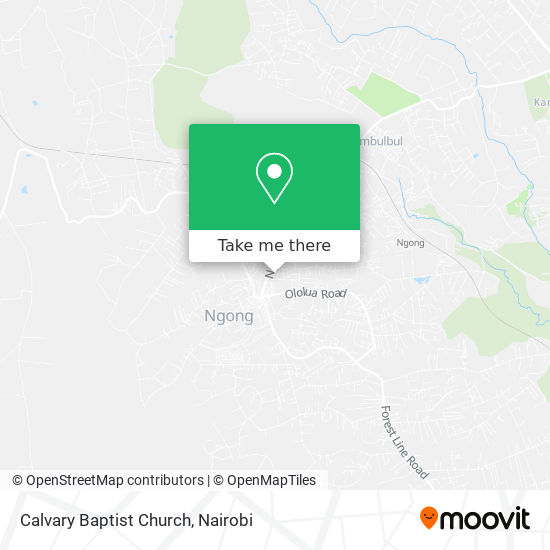 Calvary Baptist Church map
