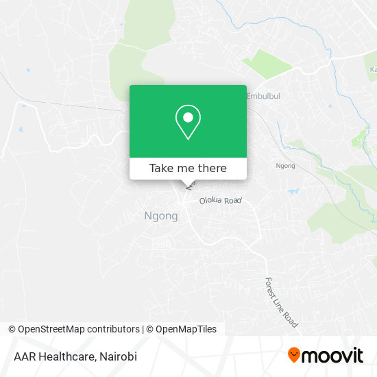 AAR Healthcare map