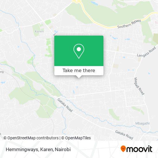 Hemmingways, Karen map