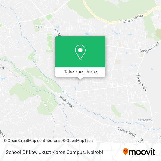 School Of Law Jkuat Karen Campus map